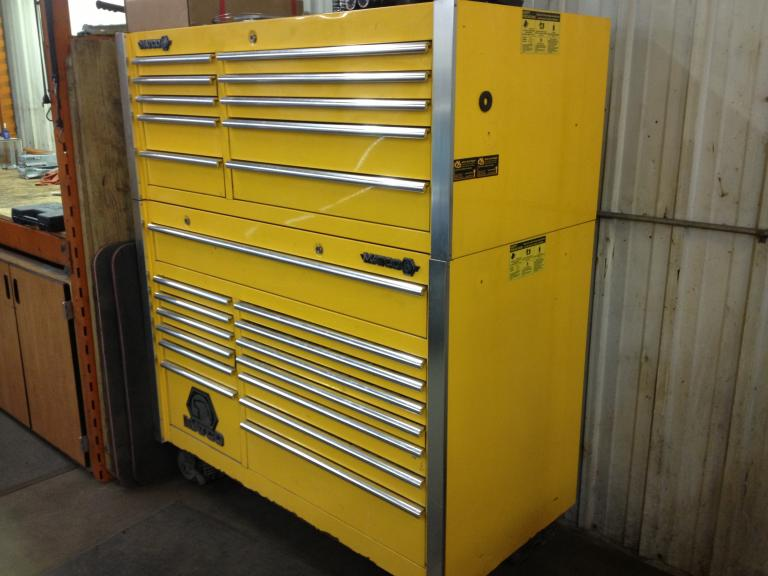 Matco Tool Box With Bottom And Top Chest 2 Bay